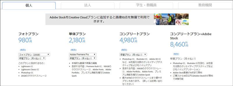 Adobe Premiere Pro価格
