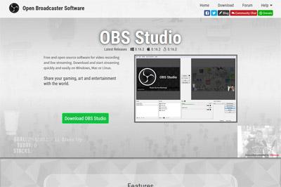 ゲーム録画ソフトOBS Studioをダウンロードする