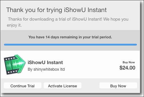 mac画面録画ソフトIshow Instant