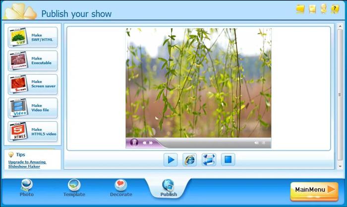 スライドショー作成ソフトPhoto Slideshow Maker Free
