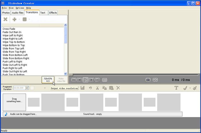 スライドショー作成ソフトBolide Slideshow Creator