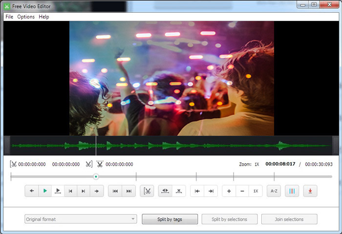 動画切り抜きソフトFree Video Editor