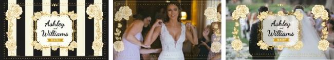 結婚式ムービー素材